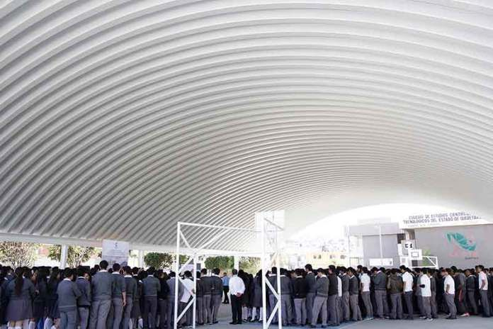 Entregó @JosueGro arcotecho y barda perimetral al CECyTEQ Corregidora