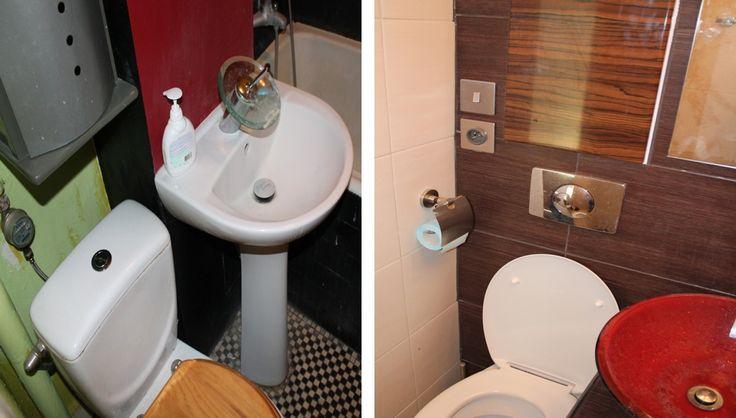 Metamorfoza toalety - zdjęcia przed i po.