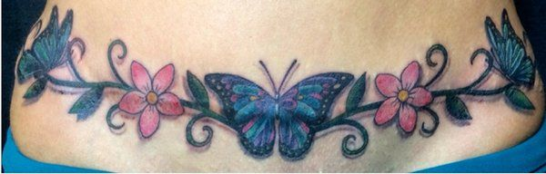 pictures of tummy tuck tattoos | Redwave Tattoo And Art Gallery - Tattoo Over Tummy Tuck Scar - Fresno ...