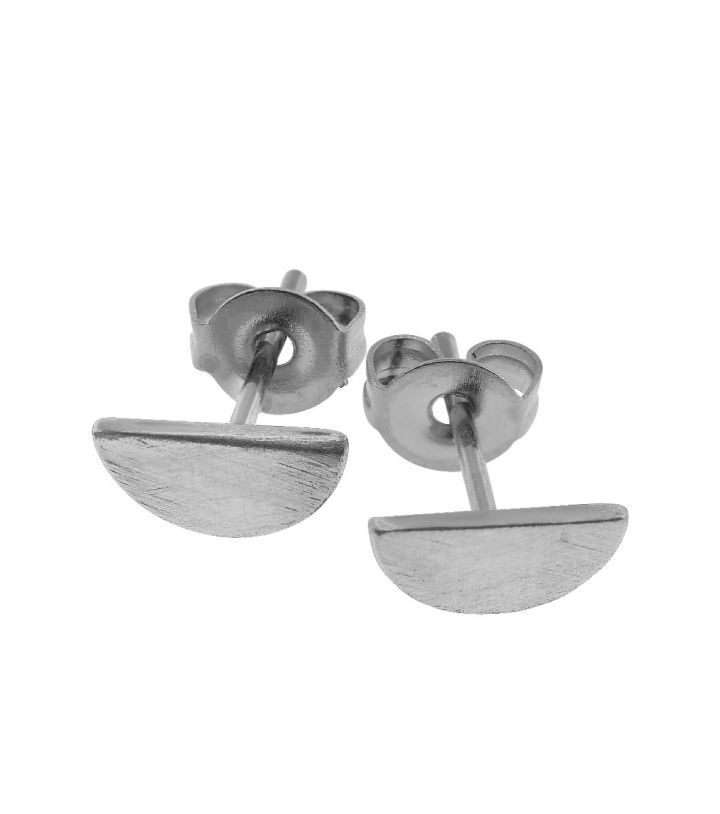 Crescent studs, stainless steel Size 10x20 mm
