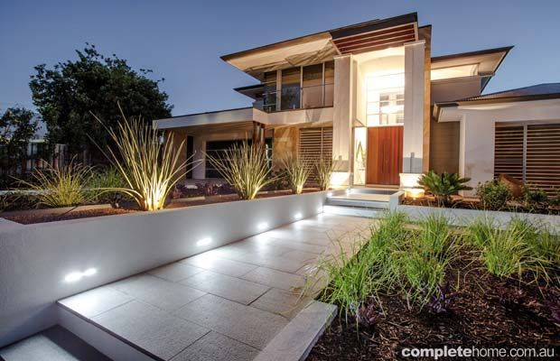 This new modern home was crying out for front and rear gardens of