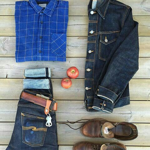 Outfit grid - Double denim day