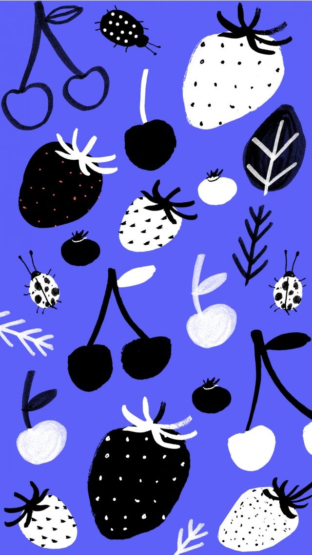 Fruit doodle Pattern iPhone Wallpaper. Tap to see more abstract pattern iPhone wallpapers and lock screen backgrounds! - @mobile9