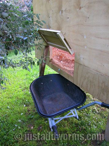 For getting rid of the sawdust.  Great idea.