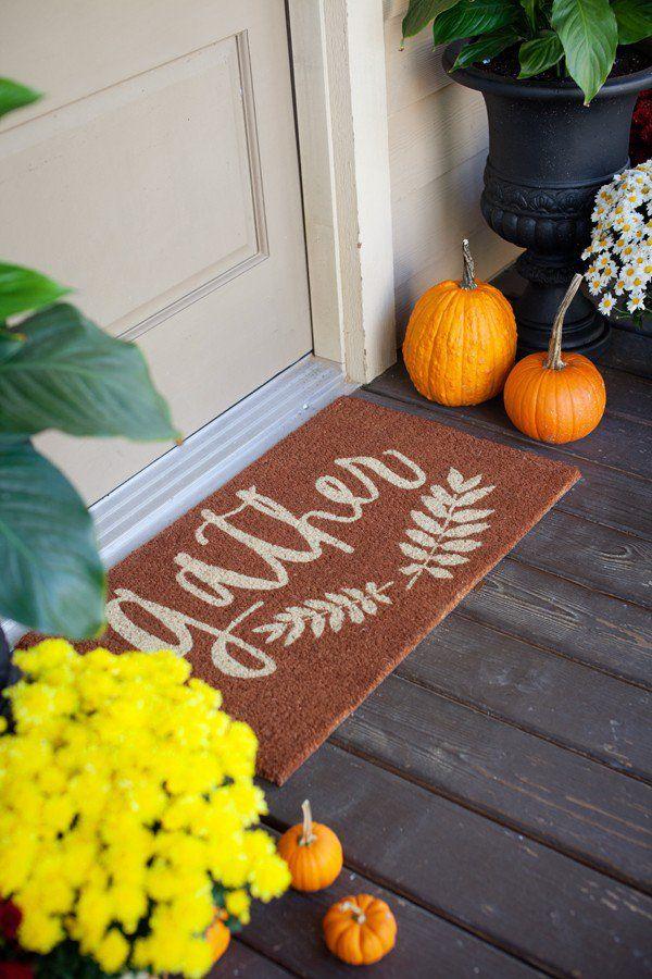 Autumn Home Tweak: Fun Doormats | Fall front porch decor ...
