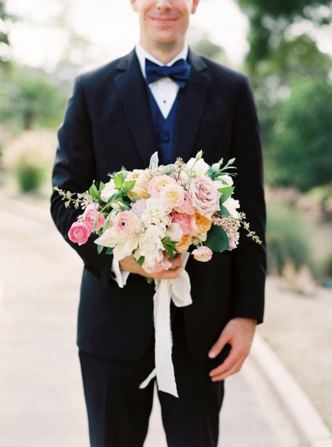 This colorful summer bouquet is beyond stunning: http://www.stylemepretty.com/california-weddings/santa-fe-ca/2015/08/27/romantic-spring-wedding-at-rancho-santa-fe-golf-club/   Photography: Joshua Aull - http://www.joshuaaull.com/