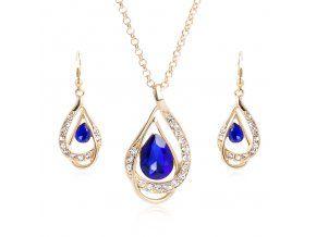 Set Sapphire Austrian Crystal