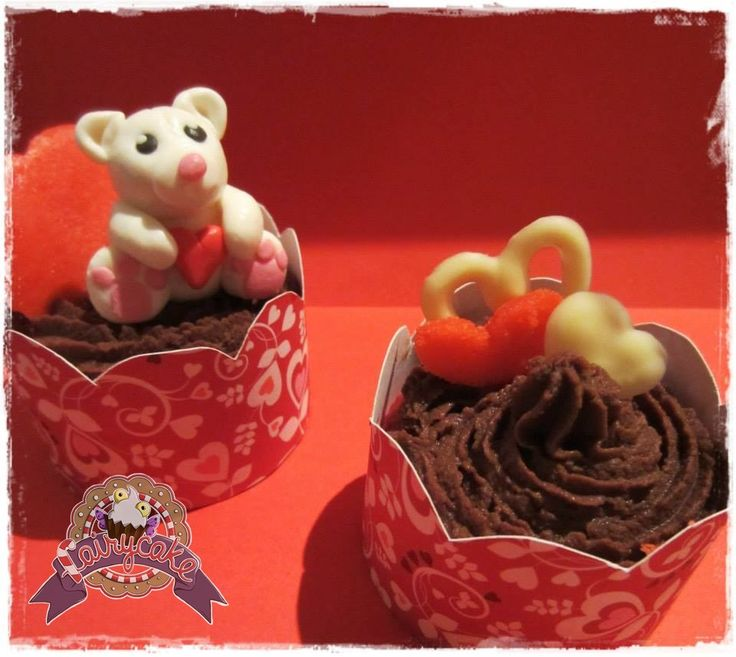 Cupcakes SanValentín  osito
