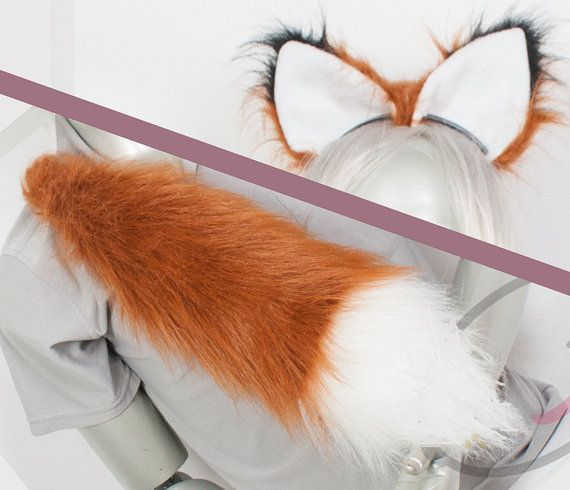 Best Fox Combo Tail and Ears  Rust Cosplay by lemonbrat on Etsy