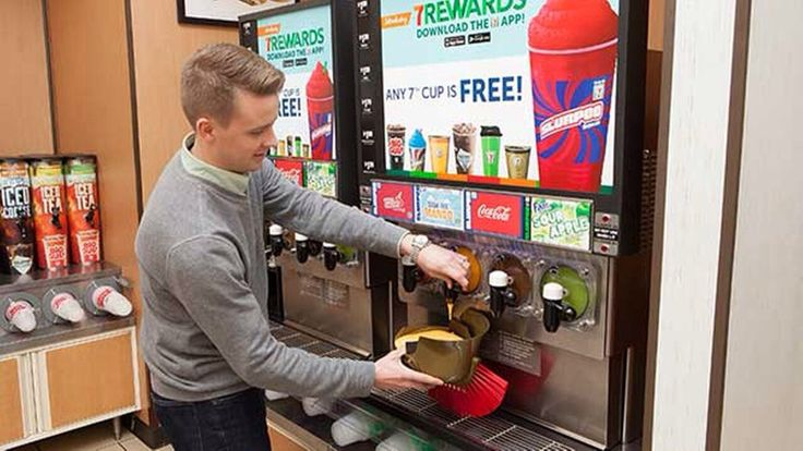 April 11th... Bring your own cup to 711 and fill it up for 1.49 #cstore#7-11 #cstore#promo#gas station#drink#