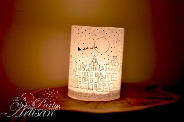 Download Printable Tea Candle Wrap.. Delightful! The Party Artisan