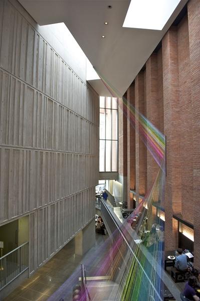 The Permanent Present, 2012, Mark Garry (coloured copper wire, The Metropolitan Arts Centre, Belfast)