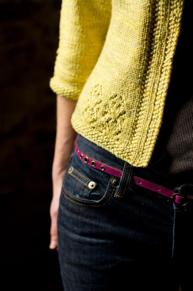 Vodka Lemonade cardigan knitting pattern by Thea Colman