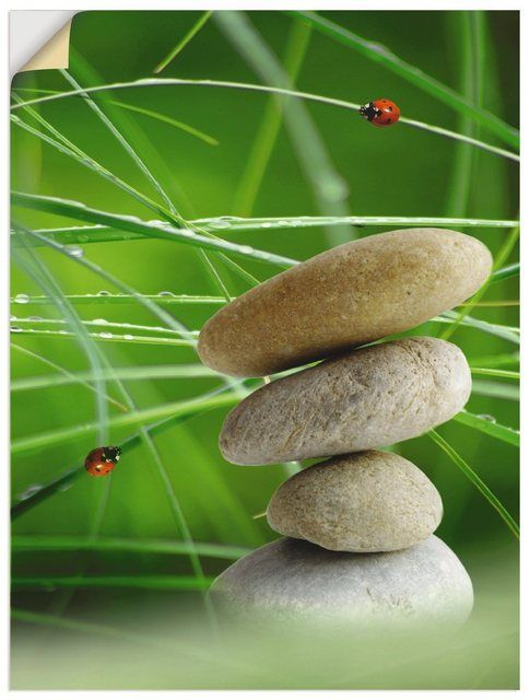 Premium Wandfolie »Claudia Burlager: Balance Steine«