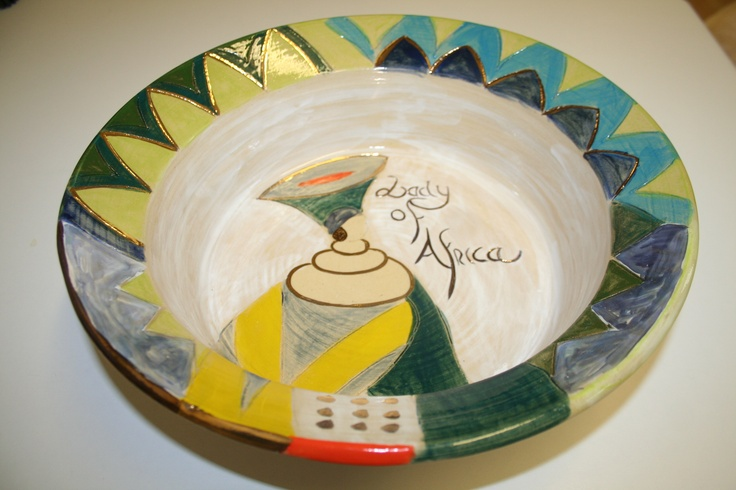 Ladies of Africa Hand thrown pottery bowl. www.dmgdesigns.co.za