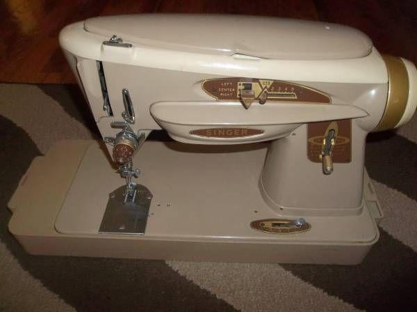 Vintage 40's Singer SlantOMatic 40 Special Sewing Machine With Impressive Matic Sewing Machine