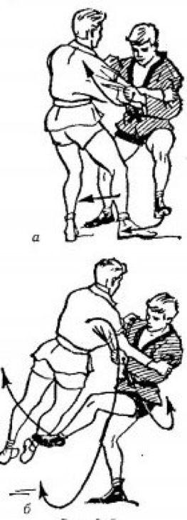 Боковая подсечка в темпе шагов (стр.277)