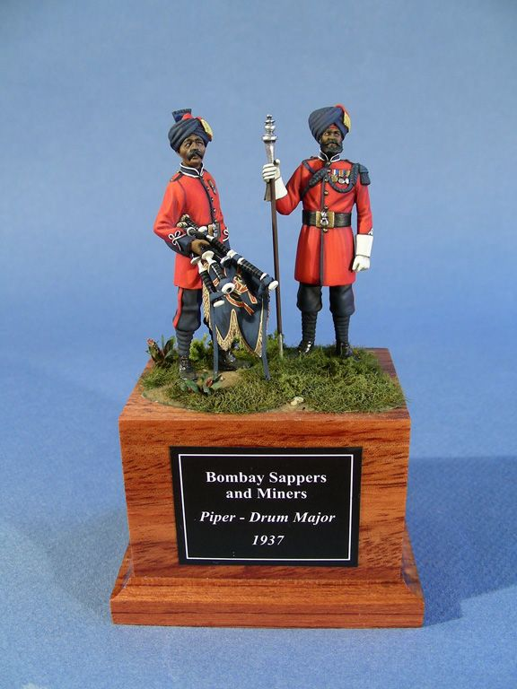 British; Bombay Sappers & Miners, Piper & Drum Major, 1937. 54mm from Mario Venturi's Collection