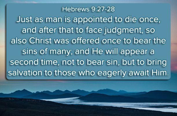 Hebrews 9:27-28