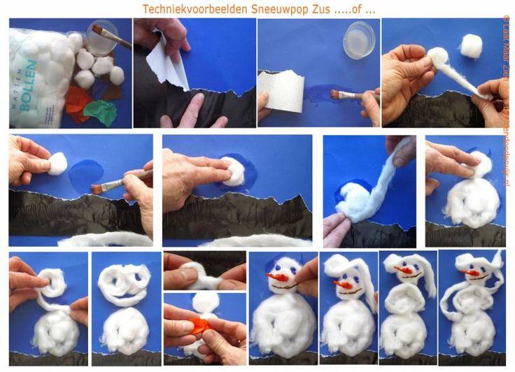 Sneeuwpop Zus of   lesidee   groep 1-2   Laat maar Zien