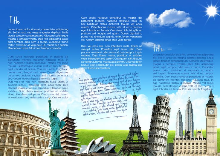 Travel brochure template travel guide design brochure for Travel guide brochure template
