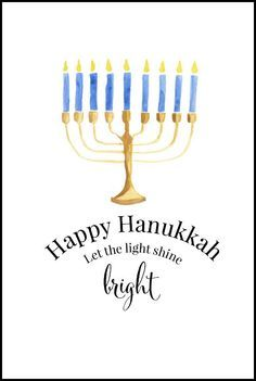 Happy Hanukkah Free Printables   Use for easy DIY wall art, cards, crafts, screensavers or as part of your Hanukkah decor.