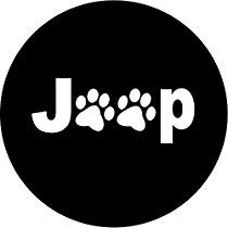 Jeep spare tire cover. Available in many sizes.