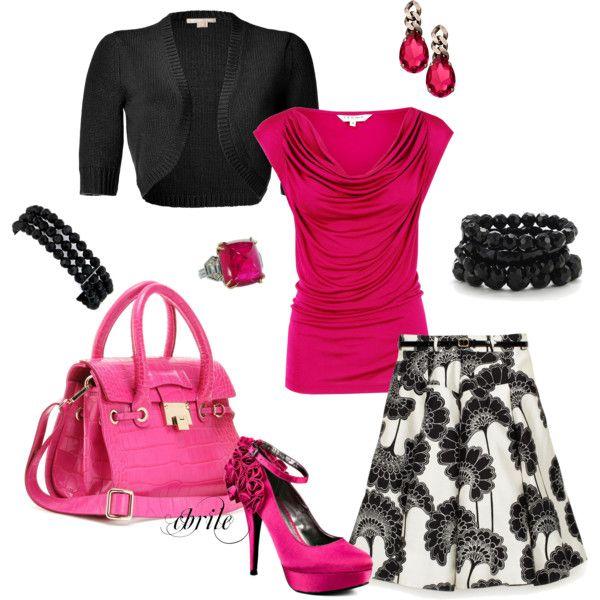 I love black and pink.  Looks like I should go to brunch somewhere!