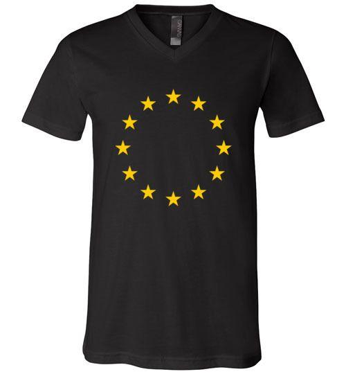 Amazing The Flag of Europe Unisex V-Neck T-Shirt