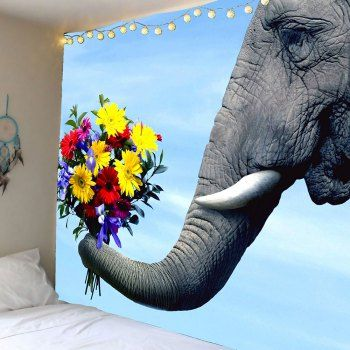 SHARE & Get it FREE   Elephant and Flower Print Wall TapestryFor Fashion Lovers only:80,000+ Items·FREE SHIPPING Join Dresslily: Get YOUR $50 NOW!