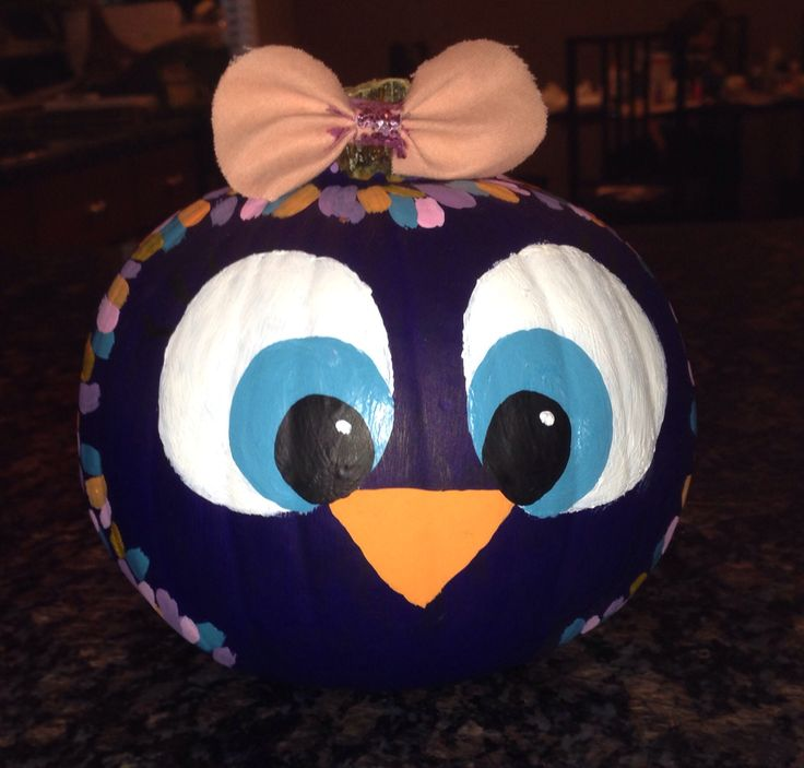 Halloween owl pumpkin painting