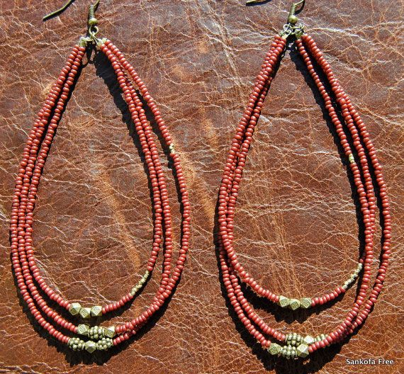 AYO Tribal Earrings - African Jewelry-Tribal Jewelry-Ethnic Jewelry-Boho Jewelry-Afrocentric Jewelry--Fashion Jewelry on Etsy, $25.00