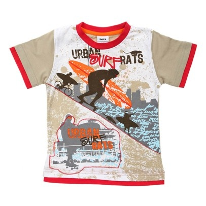 Cream/Red/Or Urban Surf Rats Tee-C1642-Apricot-Cream-Red-White-Blue $10.00 on Ozsale.com.au