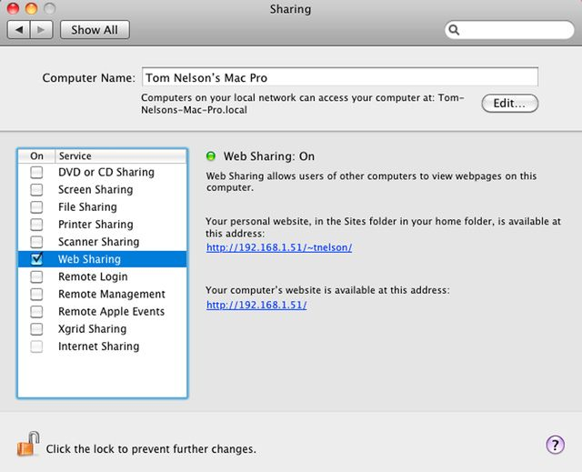 How to Use Mac's Built-In Apache Server to Host a Web Page