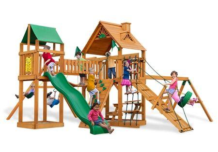 Pioneer Peak AP Wooden Swing Set Kit by Gorilla Playsets #kids #diy #backyard #swingsets