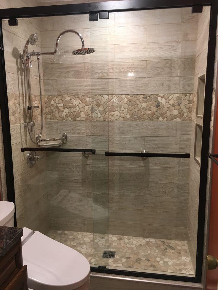 Small Modern Master Bathroom