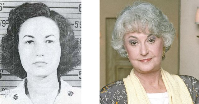 A TOP PIN! - Staff Sergeant Bea Arthur, United States Marine Corps, 1943 – 1945  While the Marine Corps might seem an unlikely place for a future Golden Girl, Bea Arthur apparently served in the Corps for 30 months as a truck driver and typist. She was one of the initial recruits to the Women's Reserve and rose TO the rank of Staff Sergeant during her World War II service.