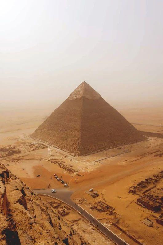 Pirámide de Kefren en Giza.