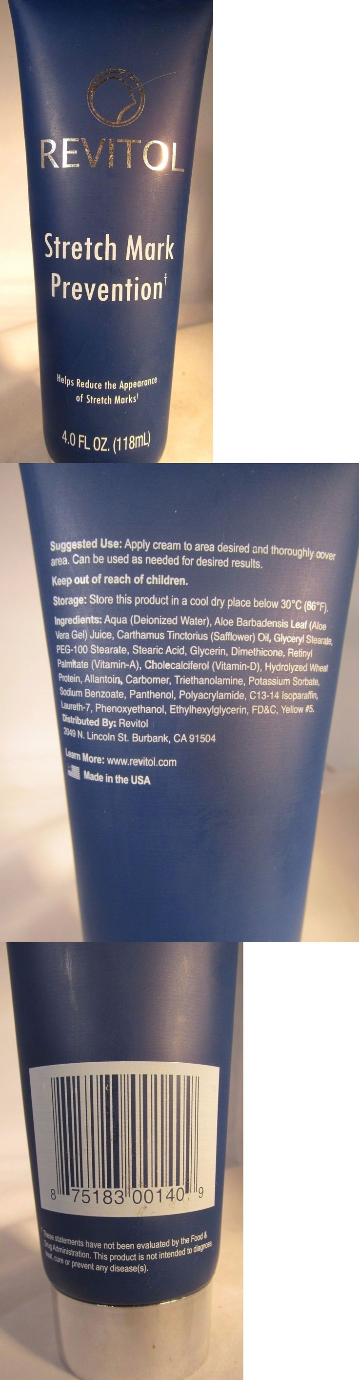 Scar and Stretch Mark Reducers: Revitol Stretch Mark Prevention Cream - 4 Oz 118 Ml Exp 08/2017 BUY IT NOW ONLY: $59.88