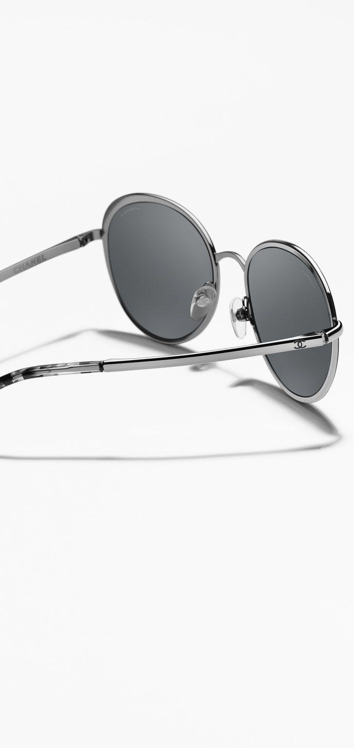 Occhiali da sole, metallo-nero - CHANEL