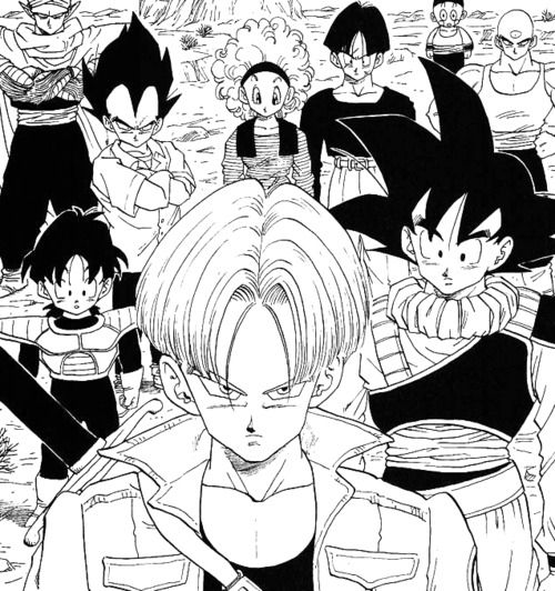 Dragon Ball Z Androids saga | TRUNKS MIRAI | MANGA