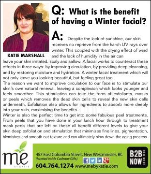 What is the benefit of having a winter facial?