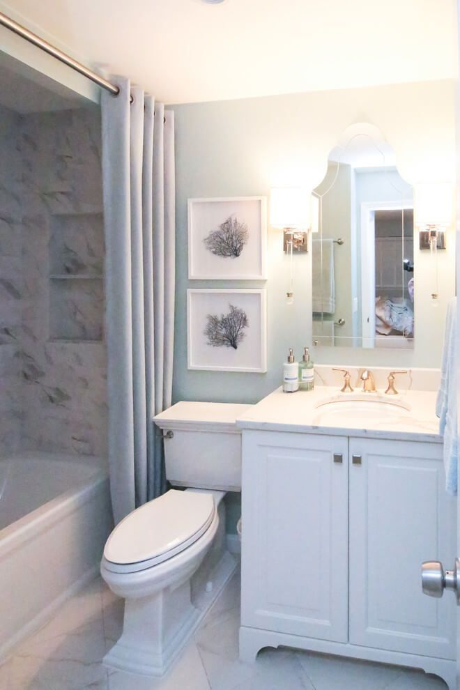 Bathroom Corner With A Slender Shower Stall This Small Shower Was Fitted Into Small Bathroom Renovations Small Bathroom Remodel Bathroom Remodel Small Budget Small condo bathroom design ideas