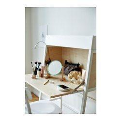 IKEA - IKEA PS 2014, Secretaire, oranje/berkenfineer, , Voorgeboorde gaten voor het eenvoudig wegwerken van de snoeren.De klep van de secretaire kan dicht, zodat het er na gedane arbeid netjes en opgeruimd uitziet.