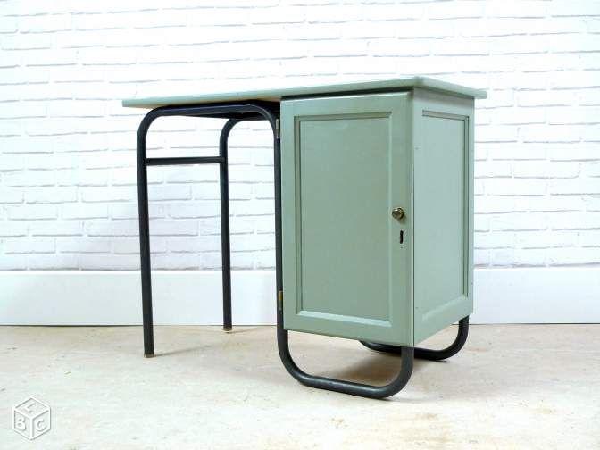 Bureau ecolier vintage mullca lantigone ameublement paris - Bureau ecolier relooke ...