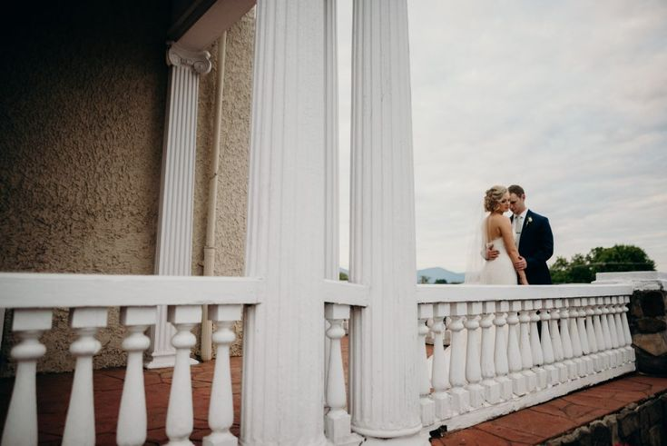 The open front porch with breathtaking vistas of the Blue Ridge Mountains… | Selecting Your Virginia Wedding Venue | Entwined Events | Venue: The Bedford Columns in Bedford, VA | Photo Credit: Lindsay Paradiso Photography