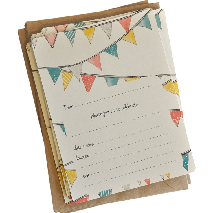An April Idea - Invitations - Bunting - hardtofind.