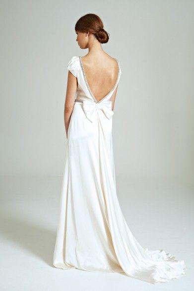 Collette Dinnigan Midnight Jewels Cap Sleeve Gown