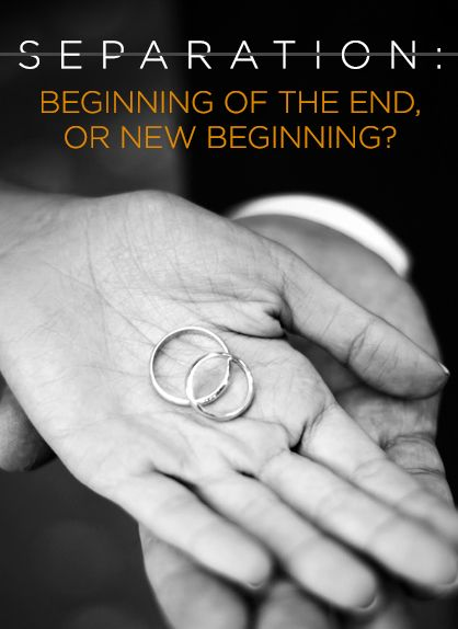 Gaining ground all over the Internet is the idea that marriage separation can actually be a good thing. It seems some couples who spend time apart are able to get back on their feet separately and then come together as better people and forge ahead...