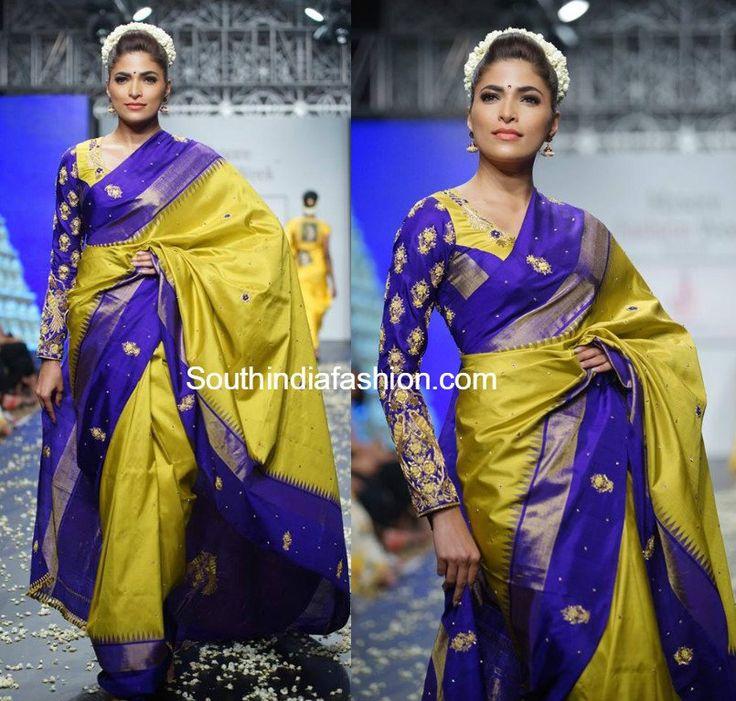 parvathy_omankuttan_kanjeevaram_saree_mysore_fashion_week.jpg (805×767)